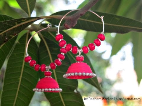 DIY - Easy Paper Quilled Ring Jhumka Tutorial