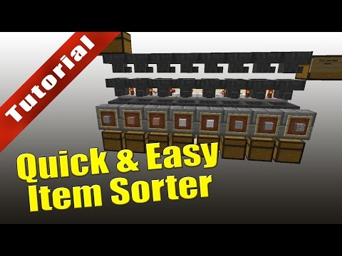 Minecraft - Tutorial: Quick & Easy Item Sorter (With Overflow Protection)