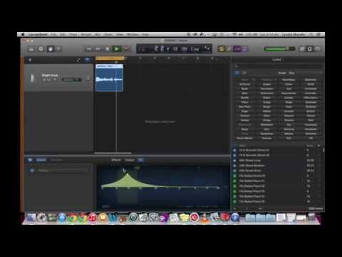 GarageBand Tutorial 4 - Recording and Editing a Vocal Part