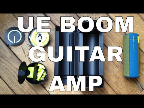 How to use the UE Boom speakers as a guitar amp