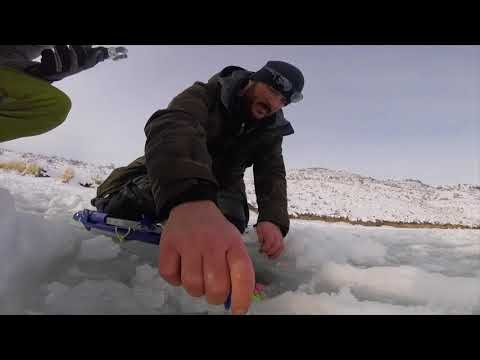 Guy says secret to ice fishing is keeping a clean hole