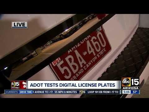 ADOT testing digital license plates in Arizona