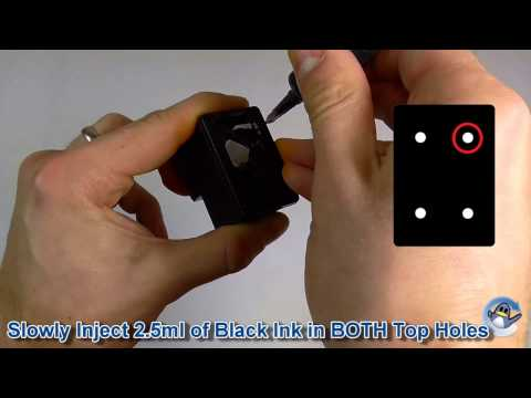 How to Refill HP 302, HP 304 & HP 62 Black Ink Cartridges