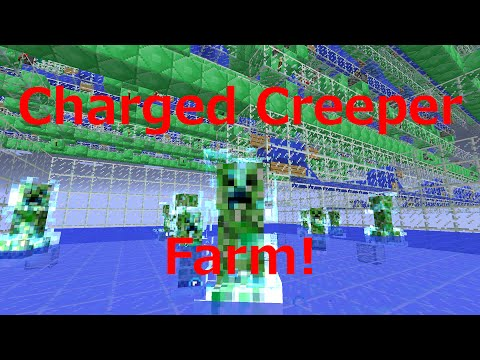 Automatic* Charged Creeper Farm Tutorial for Minecraft 1.8 (512 Subscriber Special)
