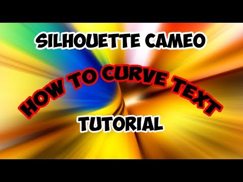 Silhouette Cameo Curved Text Tutorial And How To Detach Images #tshirtprinting