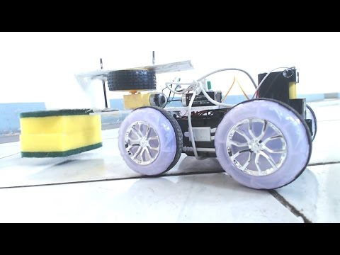 how to make a simple floor cleaner robot at home