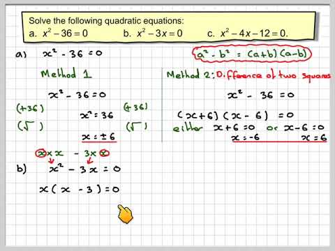 Solving quadratic equations by factorisation introduction