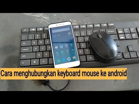 Cara menghubungkan keyboard mouse ke hp smartphone android