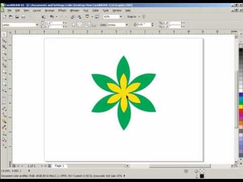 How to make a flower in corel draw X3/X5 - PakVim net HD