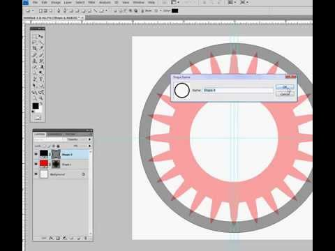 Create perfect gear using photoshop