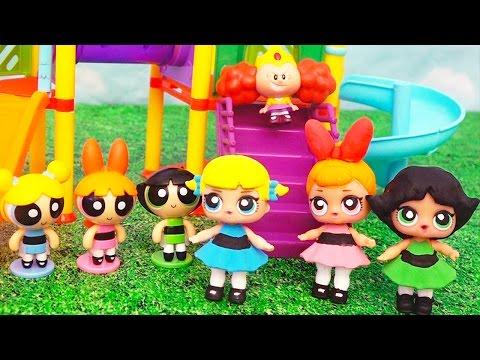Babies Turn Into Powerpuff Girls ! Toys and Dolls Fun with DIY Custom LOL Surprise Doll | SWTAD