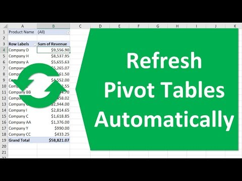 Refresh Pivot Table Automatically when Source Data Changes