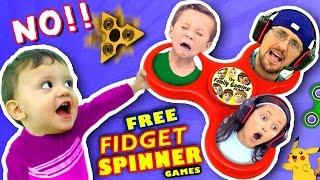 🌟 FIDGET SPINNER TOYS🌟 SAY NO!! $0 Free Hand Spinner Games w/ FGTEEV Dad & Kids (Top 5 iPad Apps)