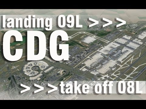 Paris Charles de Gaulle Airport | Landing & Take Off – 100% GoPro footage