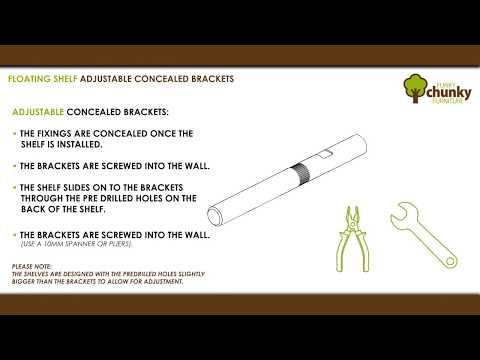 How to adjust the concealed floating shelf brackets - Concealed Bracket Adjustment Demonstration