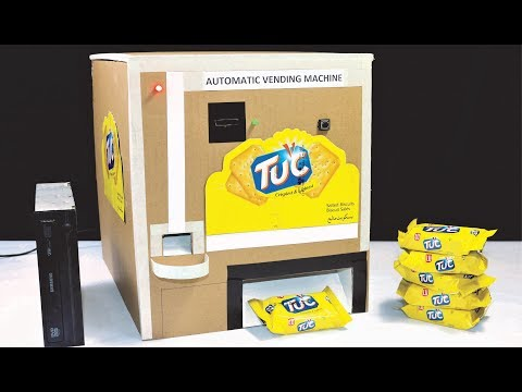 DIY Automatic Biscuit VENDING MACHINE using old CD-ROM (Coin Operated)