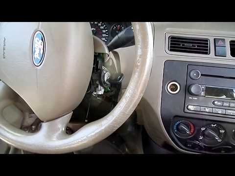 Ford Focus Ignition Lock Cylinder Removal