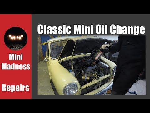 Classic Mini Oil Change