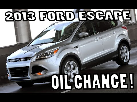 FORD ESCAPE S 2.5L  Oil Change 2013-2014-2015 SIMPLE   **Best How to**