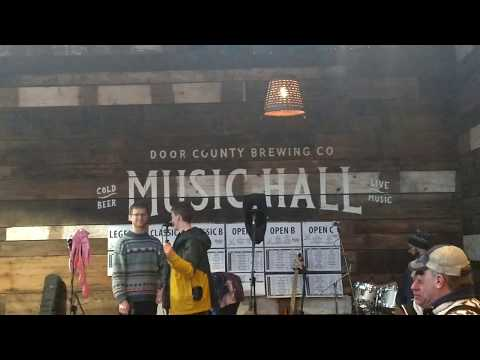 Door County Brewing Company taproom & music hall tour.