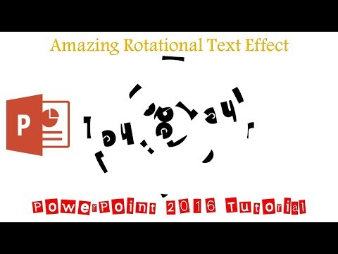 Amazing Rotational Text Effect Animation in Microsoft PowerPoint 2016 Tutorial