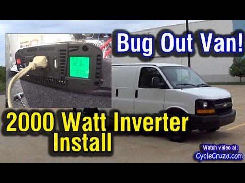 2000 Watt Inverter Install in Van | Bug Out Van Build