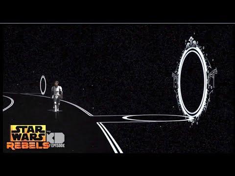 Star Wars Rebels: Ezra seeing time traveling portals throughout the Star Wars saga