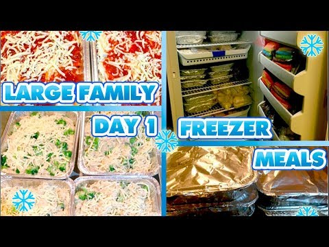 LARGE FAMILY FREEZER MEALS | DAY TWO | 26 DINNERS, 21 BREAKFASTS, 16 LUNCHES!