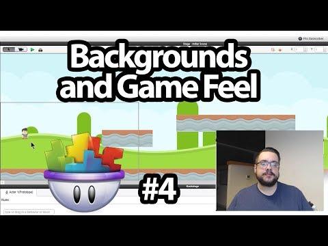 GameSalad Platformer Tutorial #4 - Backgrounds and Game Feel