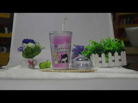 cold color changing double wall plastic tumbler