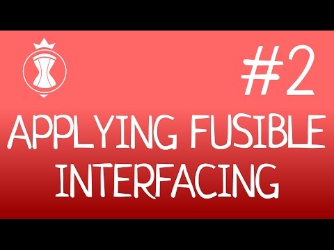 Applying fusible interfacing. How to make a corset?