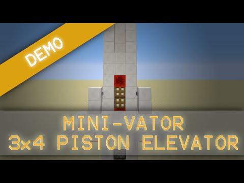 MorezysMinecraft: The smallest Up & Down Piston Elevator [1.8]