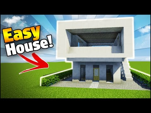 Minecraft: How to Build a Super Easy Modern House - Easy Tutorial