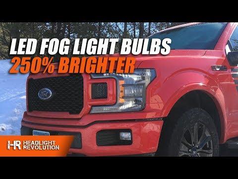 250% BRIGHTER Than Stock!! LED Fog Light Bulb Install for 18+ Ford F150 using GTR Lighting