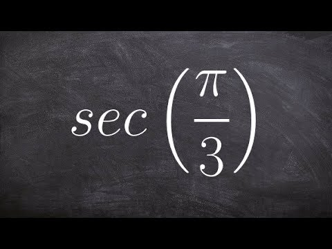 How to evaluate for the secant of an angle without using a calculator
