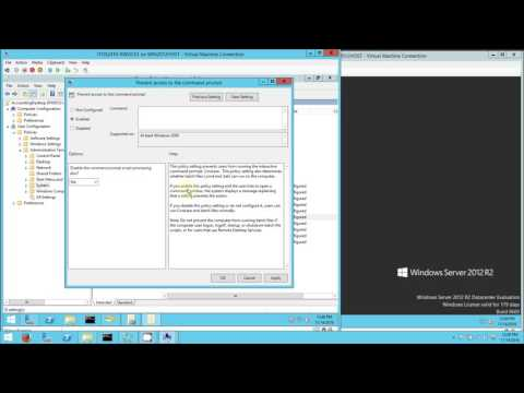 Creating a Group Policy Object for User Configuration in Windows 2012 R2