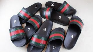 ae1dad13ab61 +P +W CAN YOU TELL THE DIFFERENCE  How to spot fake Gucci flip flops