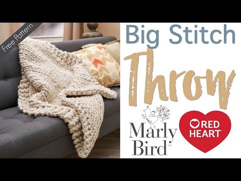 How to Knit: Wonderful Big Stitch Throw with Marly and Marly's Mom