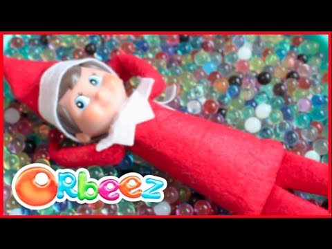 Elf on the Shelf plays with Orbeez! DIY Orbeez Slime, Stress Ball, and Air Freshener