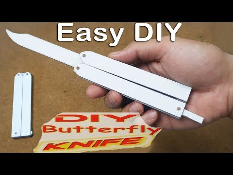 How to make Butterfly knife from Cardboard - EASY TUTORIAL
