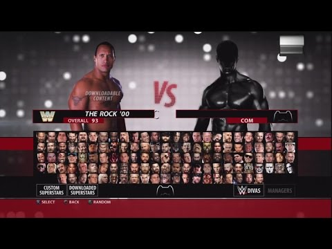 WWE 2K16 Character Select Screen Including All DLC Packs Roster