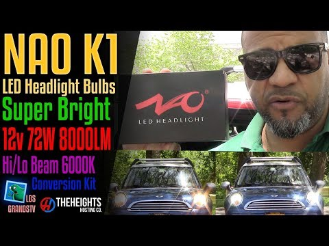 NAO K1 LED Headlight Hi-Lo Beam Dual Beam💡 : LGTV Review