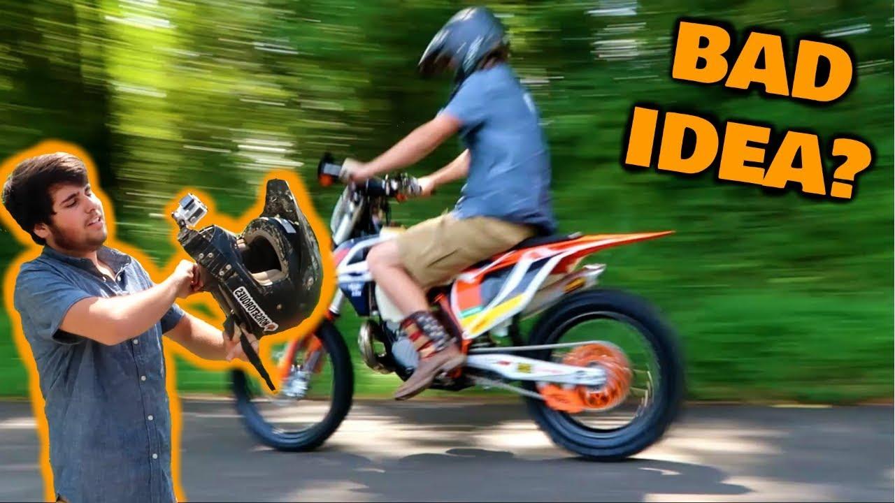First ride on STOLEN DIRT BIKE!