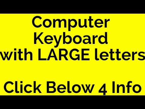 computer keyboard with large letters
