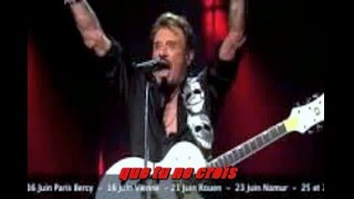 KARAOKE JOHNNY HALLYDAY Joue pas de rock'n'roll (live bercy 2013)