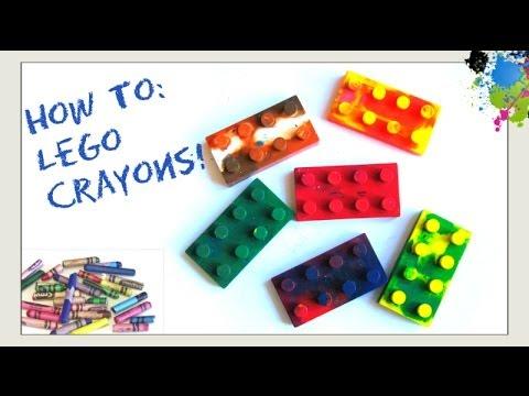 Make Lego Crayons - How to Recycle & Melt Broken Crayons - Make Crayons Kids Crafts