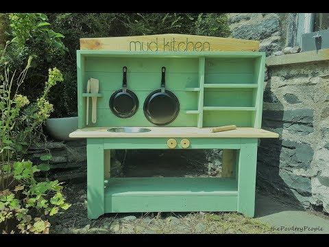 DIY Mud Kitchen - Pallet Project garden Ideas