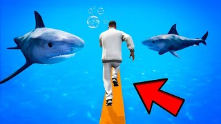 IF YOU FALL YOU GET EATEN BY SHARK PARKOUR CHALLENGE GTA 5