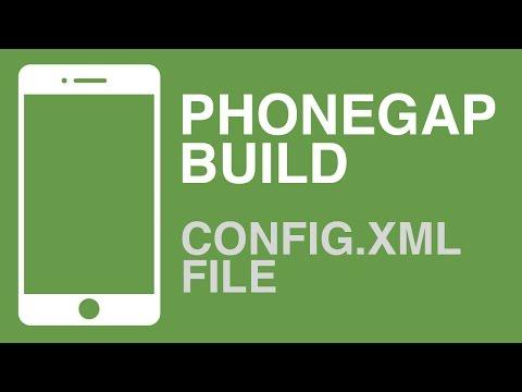 PhoneGap Build: Basic config.xml File