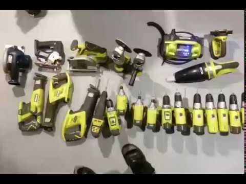 Ryobi 18V cordless tools